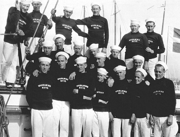 The crew of the J-boat Whirlwind in 1930